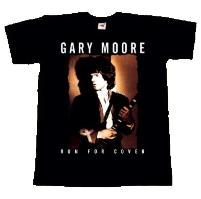 【GARY MOORE】ロックTシャツ メンズ バンドTシャツ メンズ GARY MOORE Run For Cover 1985 ゲーリー ムーア バンドTシャツ S/M/L/XL/XXL